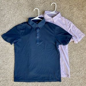 Uniqlo Navy Blue and Lavender Polo Shirts